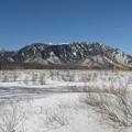 写真: 雪の野原