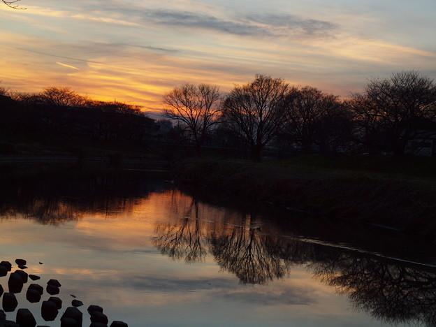 いつもの散歩道「夕景」