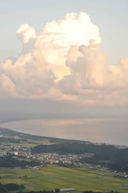 寒風山から男鹿線俯瞰 1137D 17-09-09 17-33