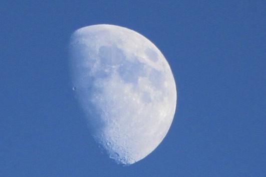 今日のお月さま~昼~♪