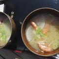 写真: カニ汁大鍋の振る舞い~♪