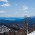 スカイラインから見る磐梯山と猪苗代湖-01474
