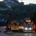 写真: 熊本市電 1203と9204