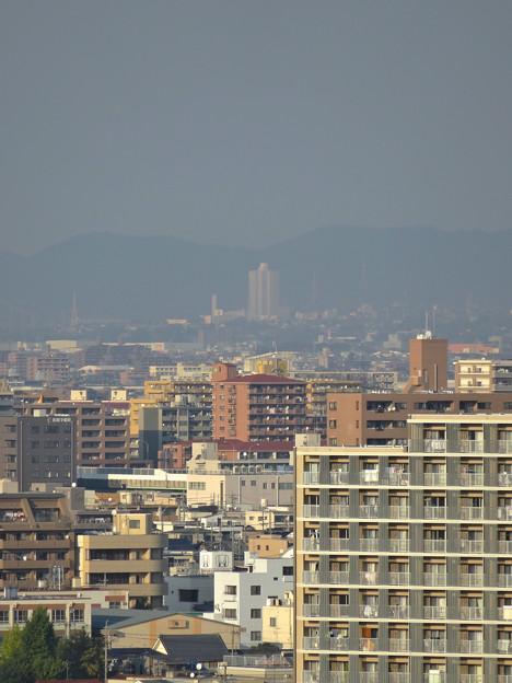 秋の名古屋城 - 22:天守閣最上階からの眺め(桃花台ニュータウン)