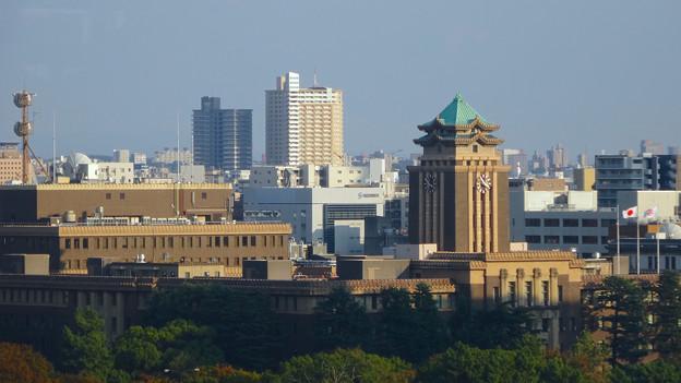 秋の名古屋城 - 29:天守閣最上階からの眺め(名古屋市役所)