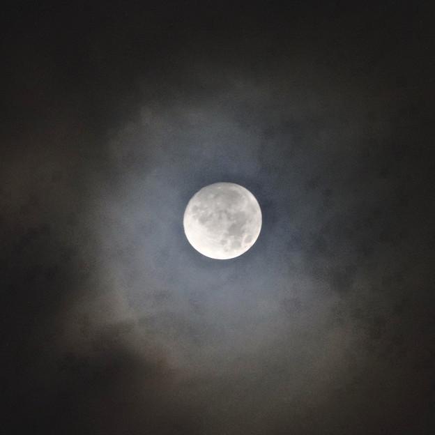 雲間から見えた「ミラクルムーン」(後の十三夜):月齢 12.66 No - 4