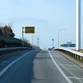 写真: 東名高速:一定間隔で並ぶ照明 - 1