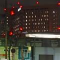 写真: JR中央線高架越しに見た、夜の名大病院 - 4