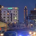 写真: 若宮大通 花田公園交差点から見えた、東山スカイタワーのイルミネーション - 4