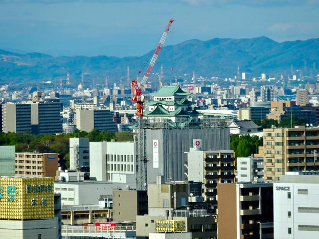 写真: 全面開業翌日(4月18日)のJRゲートタワー - 30:ゲートタワーから見た名古屋城天守閣