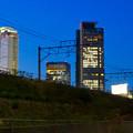 写真: あおなみ線の線路越しに見た名駅ビル群 - 2