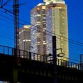 写真: あおなみ線の線路越しに見た名駅ビル群 - 5
