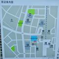 多治見駅北口に整備された虎渓用水広場 - 6:周辺案内図