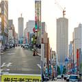 写真: 大津通から見えた建設途中の御園座ビル - 3