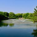 写真: 名城公園の池の噴水 - 1