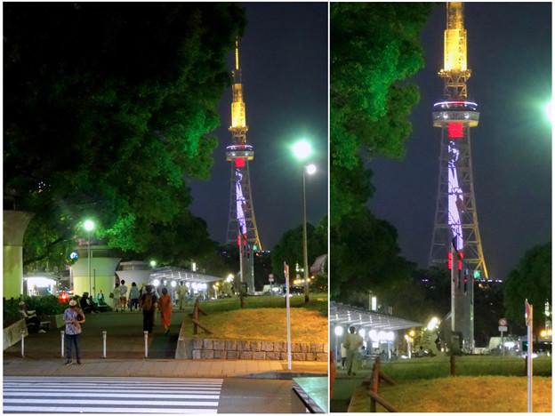 NHK「ブラタモリ」名古屋回をPRする名古屋テレビ塔のイルミネーション - 23