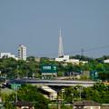 写真: JR中央線の陸橋の上から見た瀬戸デジタルタワー - 3