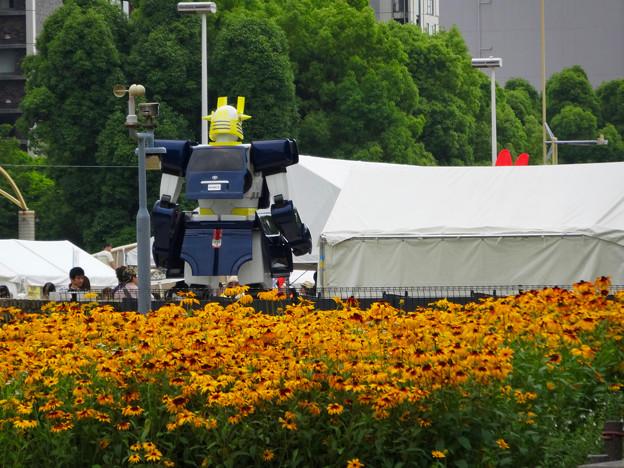 あいちめし地域応援合戦 2017:トヨペットのロボットキャラ(?)「スライジャーロボ」 - 1