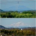 Photos: 落合公園水の塔から見た景色:初夏と冬の御嶽山 - 1