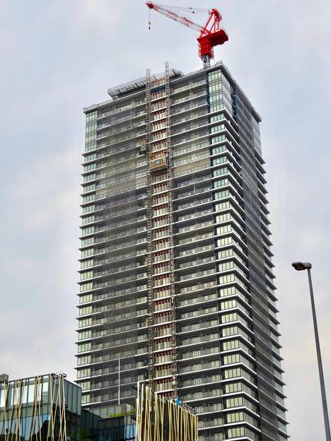 写真: 建設途中の御園座ビル(2017年6月10日) - 2