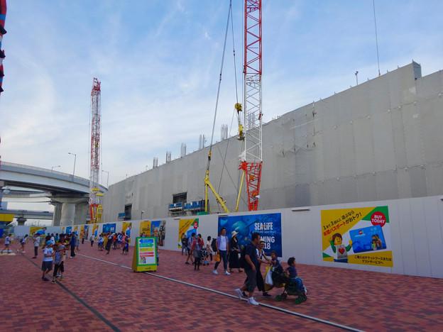 レゴランド・ジャパン:建設中のレゴホテル?(2017年7月8日) - 2