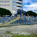 写真: 春日井市民納涼まつり 2017:前日(7月21日)準備が進む落合公園 - 3