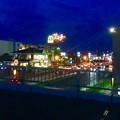 国道19号に架かる歩道橋の上から見た「春日井市民納涼まつり 2017」の花火 - 1