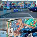 写真: 安城七夕まつり 2017 No - 193:日通の倉庫に巨大な新美南吉の壁面アート