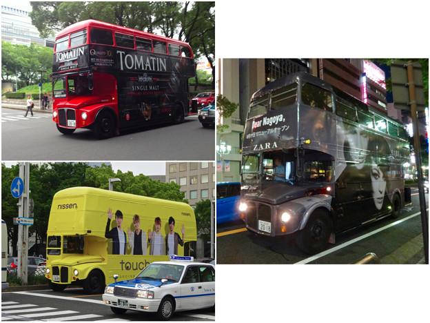 名古屋栄で時々見かけるPRのためのロンドンバス - 7