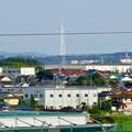 イオン小牧店屋上駐車場から見た景色 - 8:瀬戸デジタルタワーとスカイワードあさひ