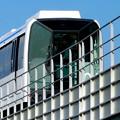 写真: 公園西駅前から見上げたリニモ - 3