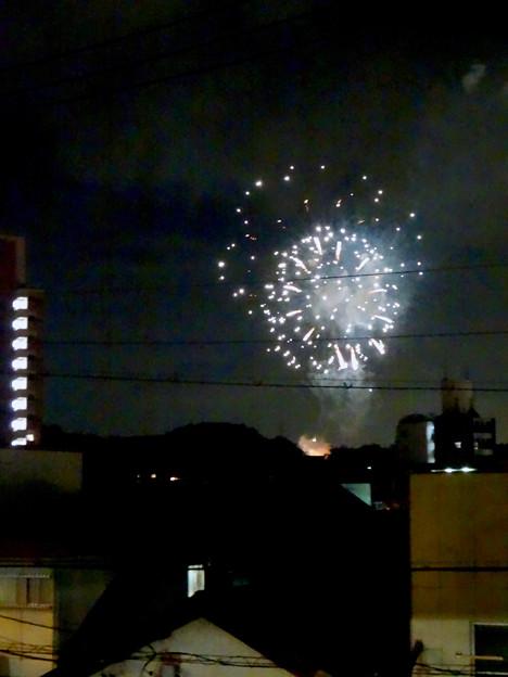 せともの祭 2017 No - 38:瀬戸蔵の階段から見た花火