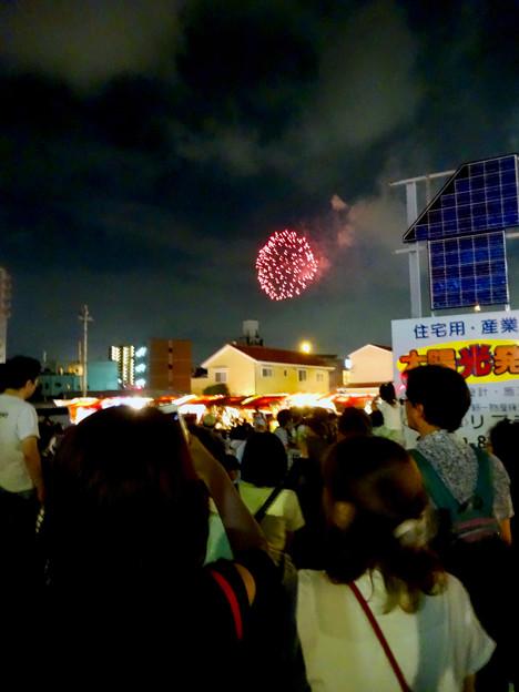 せともの祭 2017 No - 39:花火を見上げる人たち