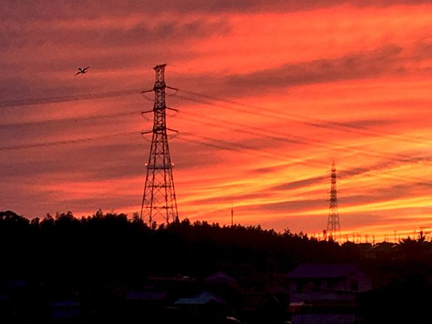 鉄塔と夕焼け - 3