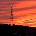 Photos: 鉄塔と夕焼け - 3