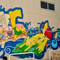 安城七夕まつり 2017:新美南吉の壁面アート - 2