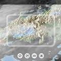 写真: 日本列島の降雨情報をARで表示できる「アメミル」 - 1