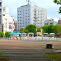 第1回さんま祭り(池田公園、2017年9月) - 1:人がおらず閑散としてた会場