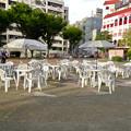 第1回さんま祭り(池田公園、2017年9月) - 2:人がおらず閑散としてた会場