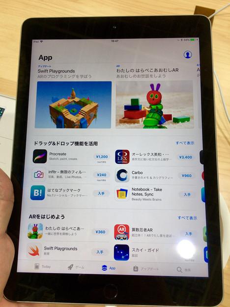 iOS 11が入ったiPad 第5世代 No - 2:App Store