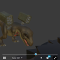 Photos: 3Dモデル共有サービス「Sketchfab」公式アプリ - 47:各モデルのページ(ロケットランチャーを装備したティラノサウルス)