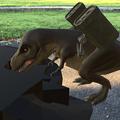 Photos: 3Dモデル共有サービス「Sketchfab」公式アプリ - 48:3DモデルをAR!(ロケットランチャーを装備したティラノサウルス)