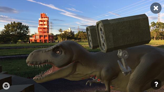 3Dモデル共有サービス「Sketchfab」公式アプリ - 49:3DモデルをAR!(ロケットランチャーを装備したティラノサウルス)