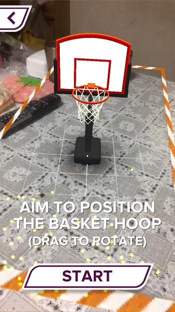 ARを使ったバスケットゲーム「AR Sports Basketball」 - 1