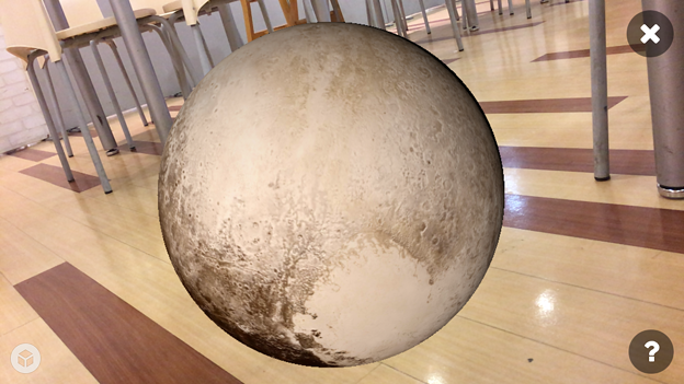 3Dモデル共有サービス「Sketchfab」公式アプリ - 132:3DモデルをAR!(冥王星)