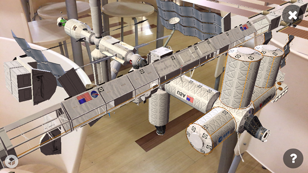 3Dモデル共有サービス「Sketchfab」公式アプリ - 143:3DモデルをAR!(国際宇宙ステーション「ISS」)