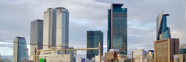Twitterヘッダー画像:グローバルゲートから見た名駅ビル群 - 1