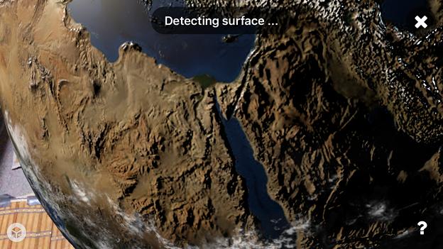 Sketchfabで地球を表示 - 6(AR)