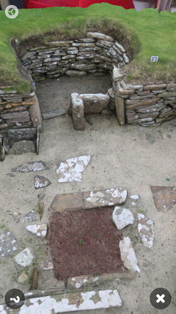 スコットランドの集落遺跡「スカラ・ブレイ(その2)」 No - 7:ARで表示