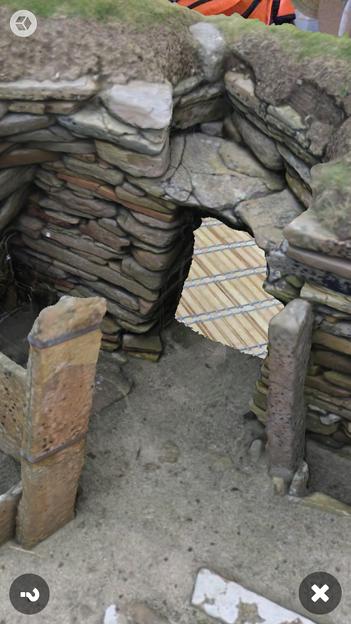 スコットランドの集落遺跡「スカラ・ブレイ(その2)」 No - 9:ARで表示
